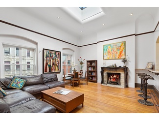 Dream Private Rooftop Penthouse Loft RARELY seen - 3 Skylights 2 Wood Fireplaces in Heart of Gramercy Park